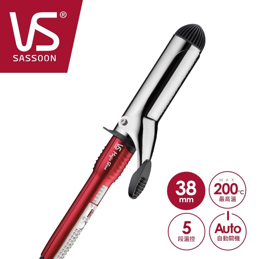 英國VS沙宣 38mm晶漾魔力紅Magic Shine鈦金捲髮棒 VSI-3831W