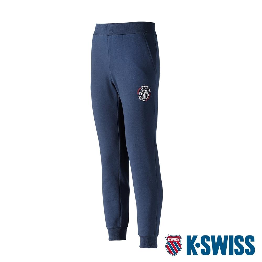 K-SWISS Sunshine Sweatpants保暖運動長褲-女-藍