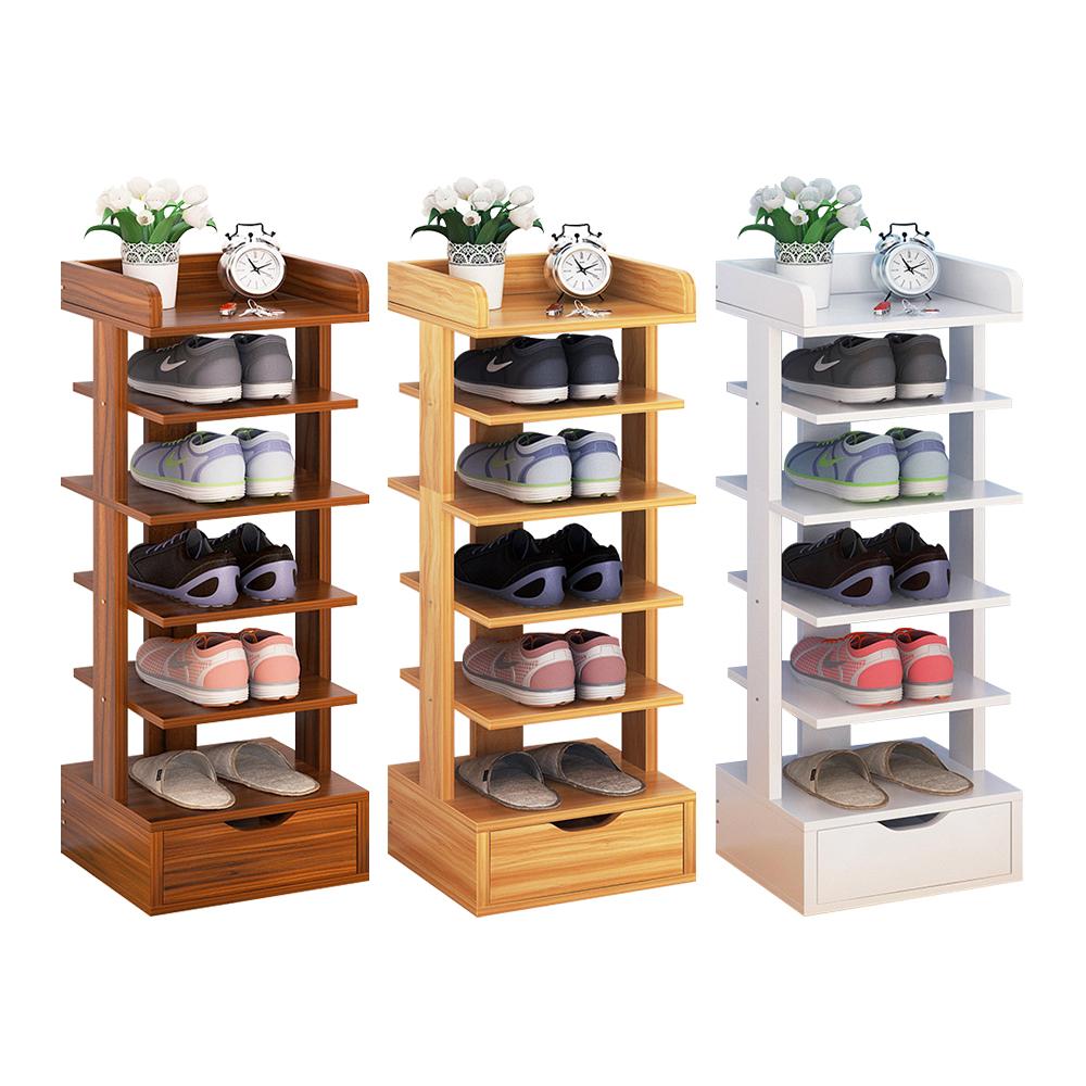 【CityShop】D4270-C多空間直立木製鞋架-6層