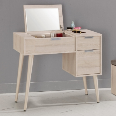 MUNA 愛莎3尺掀鏡化妝台/鏡台(含椅)  100X40X76cm