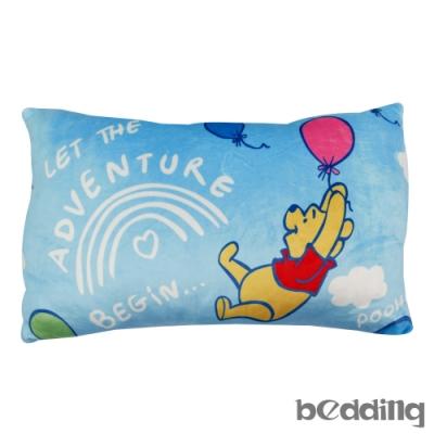 BEDDING-小熊維尼飛起來午安枕-高級短絨布-藍色