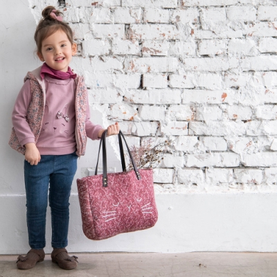PIPPY 可愛小兔針織上衣 粉紫