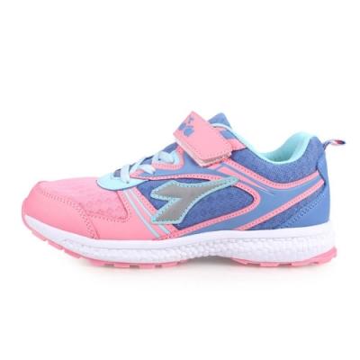 DIADORA 男女大童慢跑鞋-寬楦-路跑 粉紫藍