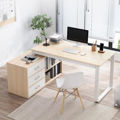 【Incare】北歐現代轉角可伸縮收納書桌(120*80*75cm)