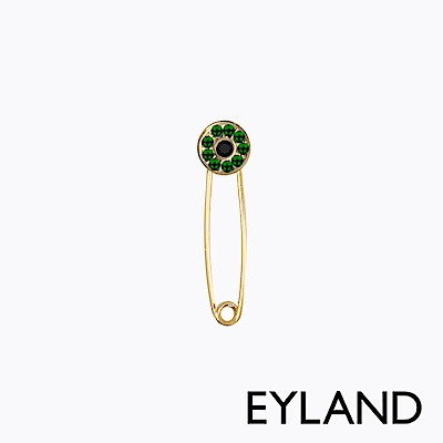 Eyland英國倫敦 MARGAUX 水晶鍍金迴紋針單邊耳環