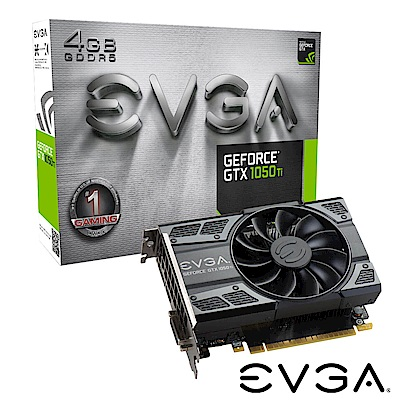 艾維克EVGA GTX1050 Ti 4GB GAMING ACX2.0 PCI-E圖形卡