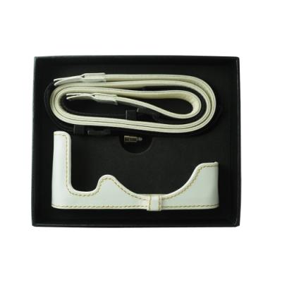 OLYMPUS E-PL8 原廠皮革底座+肩帶組 白色