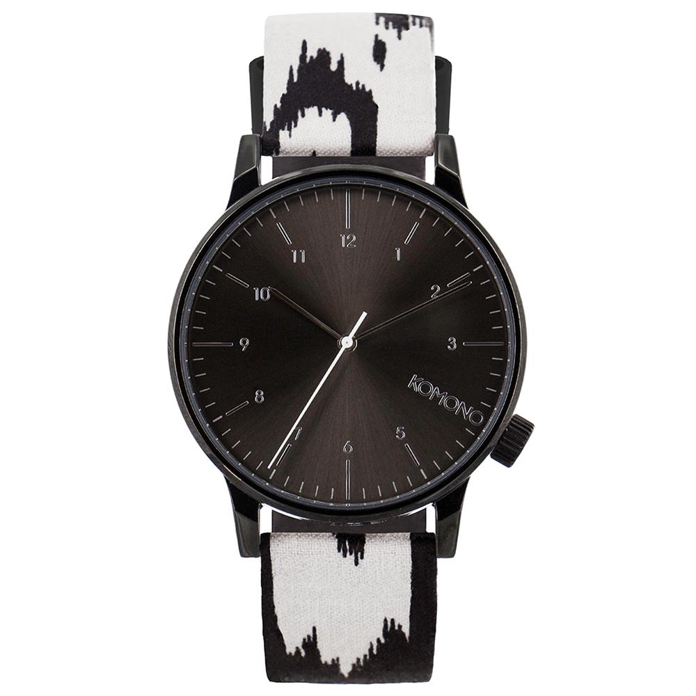 KOMONO Winston Print 腕錶-黑白迷離/41mm