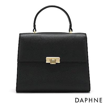 達芙妮DAPHNE-經典掀蓋側背郵差方包-黑
