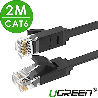 綠聯 CAT6網路線 GLAN FLAT版 2M