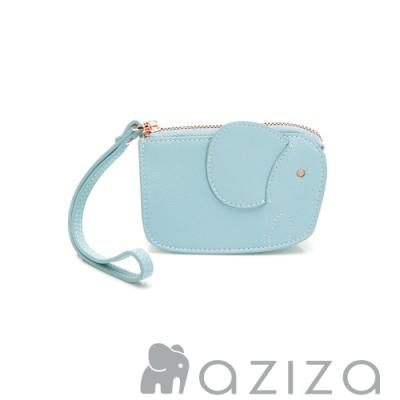 aziza 象型手拎零錢包 水藍
