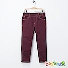 bossini女童-輕鬆窄管長褲01茄紅