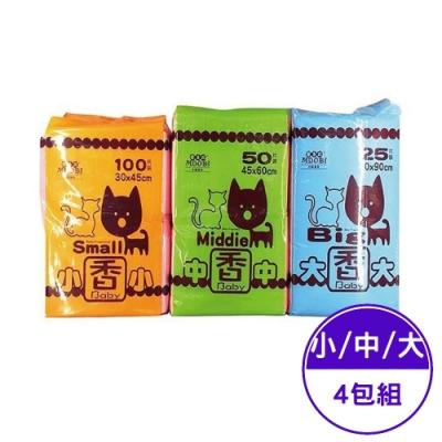 摩多比MDOBI-香味尿布 小/中/大號 (4包組)