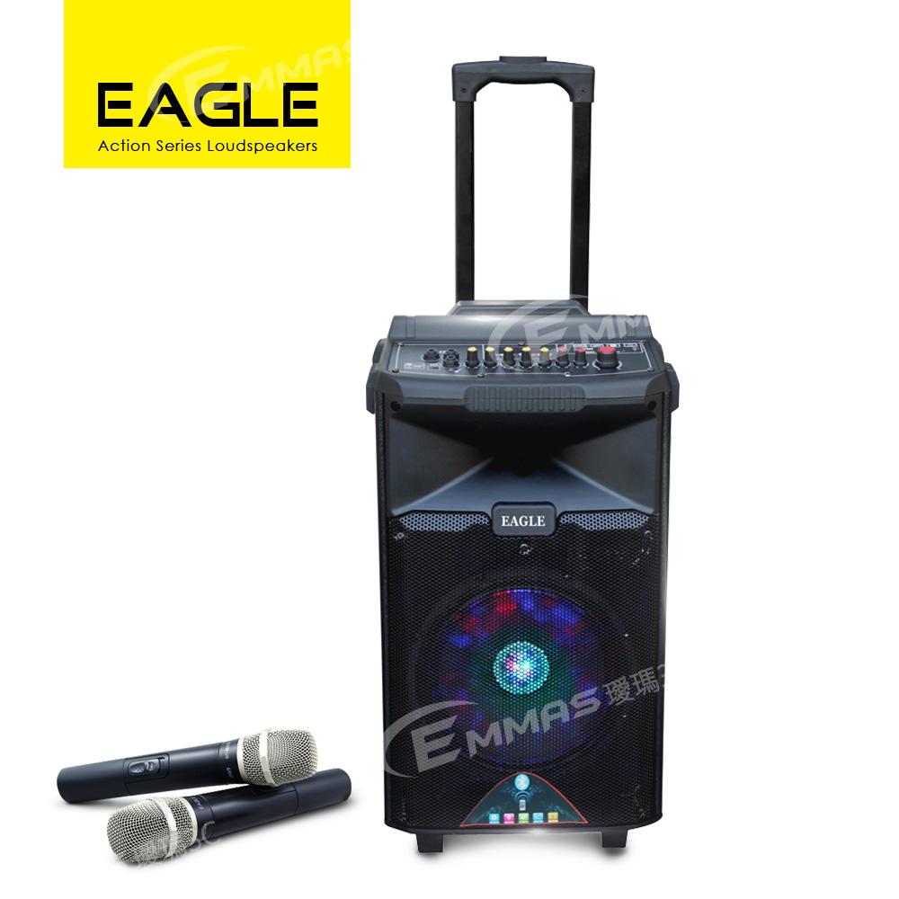 EAGLE行動藍芽拉桿式擴音音箱 無線麥克風版 ELS-198