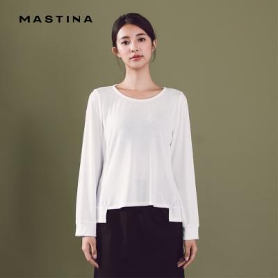 【MASTINA】圓領舒適風-上衣(二色)