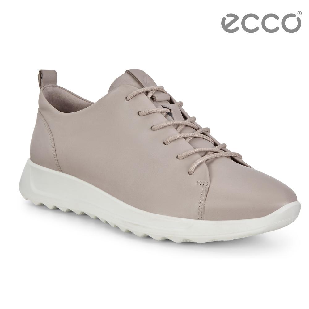 ECCO FLEXURE RUNNER W 隨型彈力運動休閒鞋 女-灰粉色