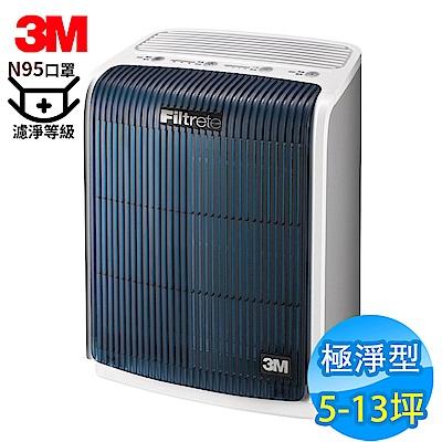 3M 5.5-13坪 淨呼吸極淨型空氣清淨機 FA-T20AB N95口罩濾淨原理