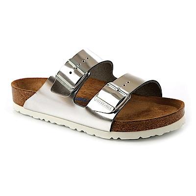 勃肯BIRKENSTOCK 1005960亞利桑那經典二條拖鞋(銀色)
