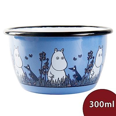 Muurla 嚕嚕米點心碗 夜遊草原 寶藍 300ml 11.3cm