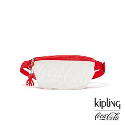 Kipling | Coca-Cola 聯名款可口可樂標誌性色系潮流隨身腰包-FRESH