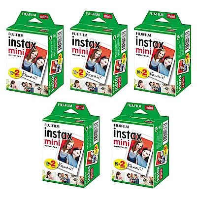 富士 instax mini 空白底片 5盒 (10入共100張)