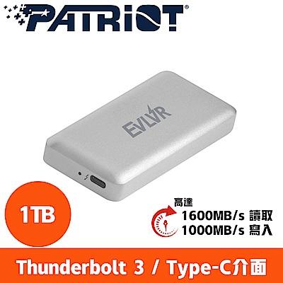 Patriot美商博帝 EVLVR Thunderbolt 3 1TB SSD行動固態硬碟