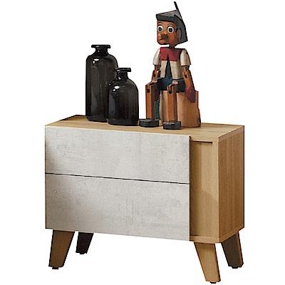 文創集 迪亞茲時尚1.8尺雙色床頭櫃/收納櫃-54x42x46cm免組