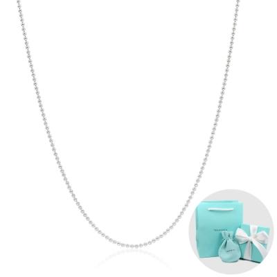 Tiffany&Co. 經典小圓珠純銀項鍊