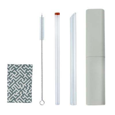 [Caldo卡朵生活]小煙囪玻璃吸管5件組(附盒+布)