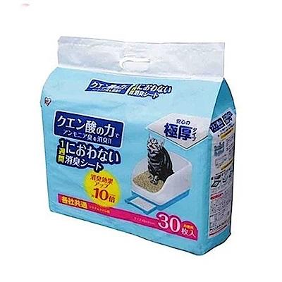 日本IRIS 貓廁專用檸檬酸除臭尿布30入