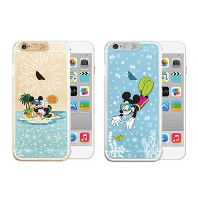 Openbox iPhone6/ 6S 可愛爆閃手機殼-度假米奇/潛水米奇