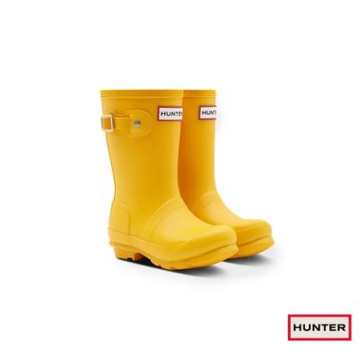 HUNTER - 童鞋 - Original小童低跟霧面短靴 - 黃