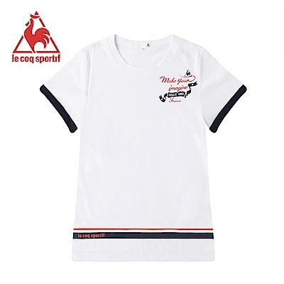 le coq sportif 法國公雞牌短袖T恤 女-白