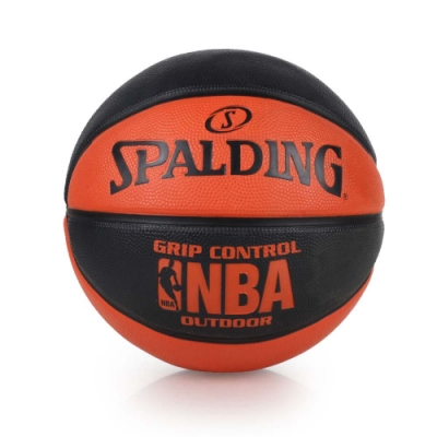 SPALDING NBA GRIP CONTROL OUTDOOR戶外籃球 SPA83081 黑橘