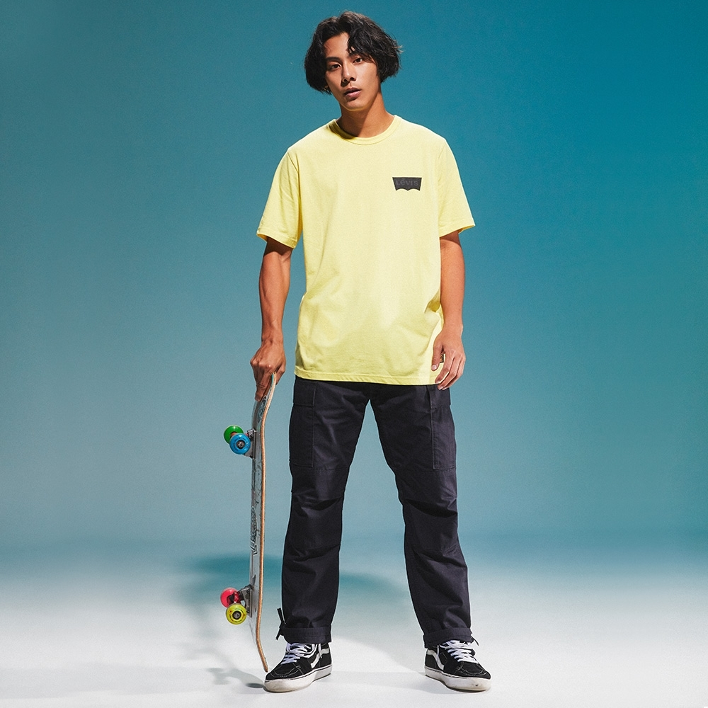 Levis 男款 短袖T恤 滑版系列 簡約Logo 檸檬黃