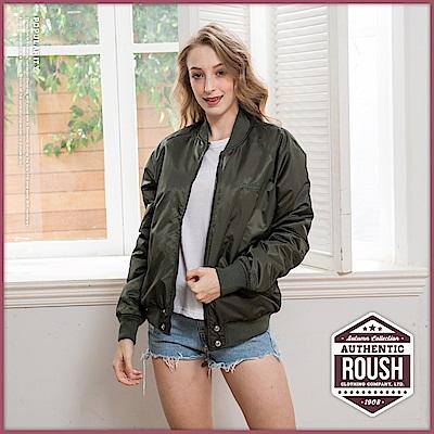 Roush 女生over size特殊剪裁雙層口袋MA-1鋪棉外套(2色)