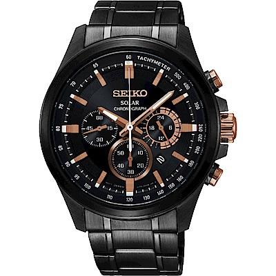 SEIKO精工 Criteria 台灣獨賣太陽能計時碼錶(SSC695P1)-42.8mm
