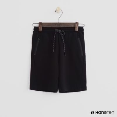 Hang Ten -童裝 - 拉鍊口袋造型運動短褲 - 黑