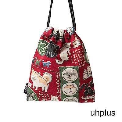 uhplus 迷你束口袋-小萌柴日記(紅)