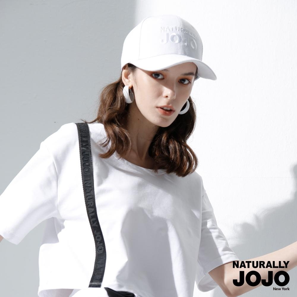 【NATURALLY JOJO】LOGO刺繡棒球帽 (白)