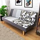 AS-艾維斯沙發床-180x80x80cm(灰色拼花)