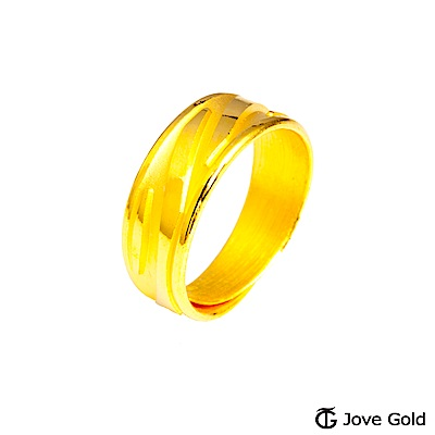 Jove Gold 漾金飾 心有靈犀黃金男戒指