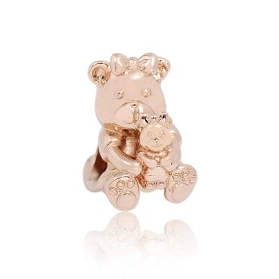 Pandora 潘朵拉 玫瑰金魅力熊寶貝 純銀墜飾 串珠