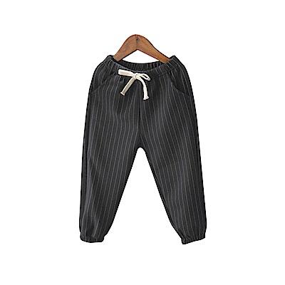 兒童 鬆緊腰條紋休閒褲 共二色 TATA KIDS