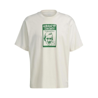 adidas T恤 Original Tee 基本款 男款 愛迪達 三葉草 史密斯 圓領 棉質 淺褐 綠 GQ8873
