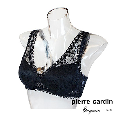 Pierre Cardin皮爾卡登 蕾絲系列無鋼圈內衣-背心款-黑