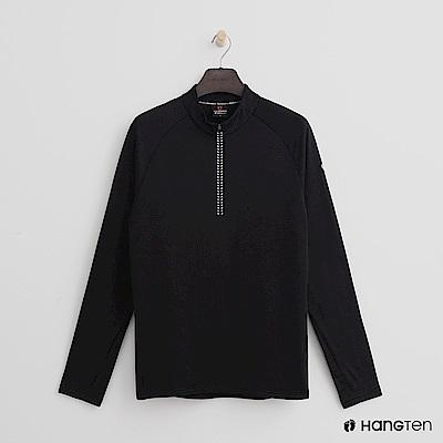 Hang Ten - 男裝 - ThermoContro-歐美風格成熟立領上衣-黑