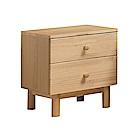 文創集 謝米德時尚1.5尺實木床頭櫃/收納櫃-46x40x48cm免組