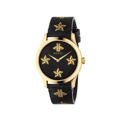 GUCCI G-TIMELESS設計款蜜蜂星星時尚腕錶38mm(YA1264055)
