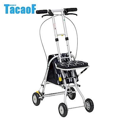 日本TacaoF幸和 輕巧助步車-黑北歐風